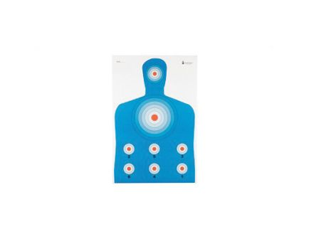 """Action Target PR-CQ1 23""""x35"""" High Visibility Fluorescent Target in Black/Blue/Red, 100/Box - PR-CQ1-100"""