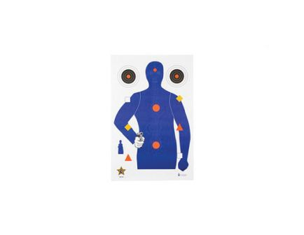 """Action Target SSO-99 23""""x35"""" Target w/ Vital Anatomy in Blue/Red/Gold/Black, 100/Box - SSO-99-100"""