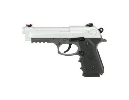 Crosman Mako CO2 Blowback Semi-Auto BB Pistol w/ 20rd Drop Out Magazine & Fiber Optic Sights, Silver - CM9B