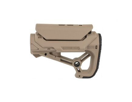 FAB Defense AR-15 Buttstock Small/Compact Fits Mil-Spec And Commercial Tubes FDE - FX-GLCORESCPT