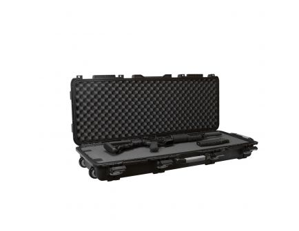 Plano Synergy Field Locker Wheeled Water-Resistant Tactical Long Gun Case for Single Tactical Rifle, Black, Gray Handle - 109440