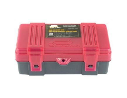 Plano 6 Pack 50rd .41 Mag/.44 Mag/.45 LC Handgun Ammunition Boxes, Charcoal/Rose - 122650
