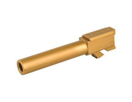Grey Ghost Precision 9mm Match Grade Barrel for Glock 19 Gen3/4,Titanium Nitride - G19-NT-TIN