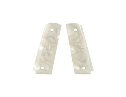 Hogue 1911 Government Polymer Grips, Pearlized White - 45165