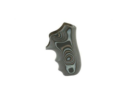 Hogue G10 Grips For Ruger LCR, G-Mascus Black/Gray - 78167