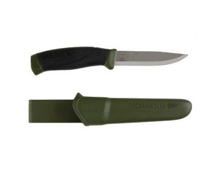 "Morakniv Companion Fixed Blade Knife Stainless Steel 4.1"" Blade Military Green/Black - M-12215"