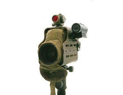 "Kinetic Development Optics Hub M-Lok Spotting Scope Housing for Leupold M151 Spotting Scope, 6-1/4"" W x 5.67"" H, Earth Brown - MSH5-110"