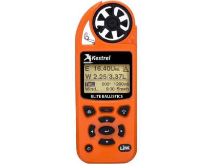 Kestrel 5700 Elite Applied Ballistics Weather Meter with Link, Blaze Orange - 0857ABLZ
