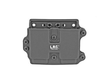 L.A.G. Tactical MCS Double Magazine Carrier Fits 9/40 Full Size Magazines, Black Kydex - 34007