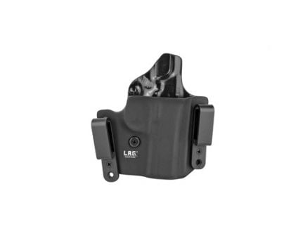 """L.A.G. Tactical Defender Series OWB/IWB Right Hand Holster Fits 3"""" 1911, Black Kydex - 6007"""