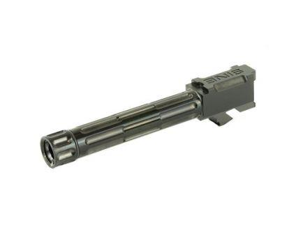 LanTac 9INE Glock 19 Threaded Fluted Barrel, Black - 01-GB-G19-TH-BLK
