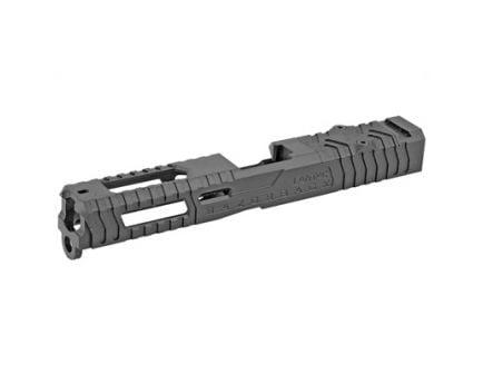LanTac USA Razorback Glock 17 Gen 1-3 Stripped Slide With RMR Cut And Plate, Black Nitride - 01-GSS-GEN13-G17-LT