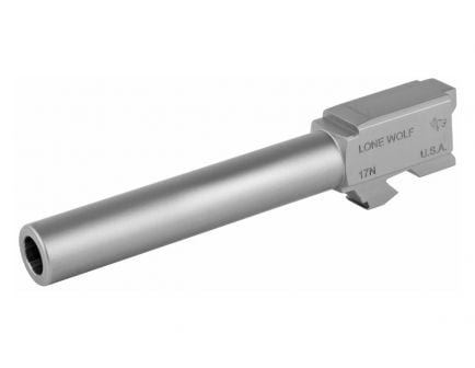 """Lone Wolf 4.49"""" 9mm Barrel Conversion for Glock 17, Stainless Steel - LWD-17N"""