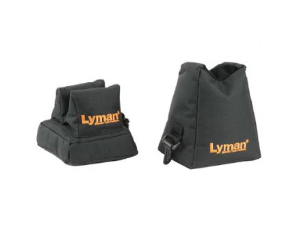 Lyman Crosshair Combo Filled Front And Rear Shooting Rests Standard Size, Black - 7837805
