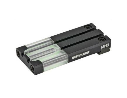 Meprolight Fiber Tritium Bullseye Sight, Fits Glock MOS, Green - 0631053108