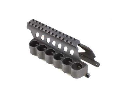 Mesa Tactical 6-Shell Side Saddle 12 Gauge, SureShell Saddle with Rail, Fits Remington 870, Black - 91630
