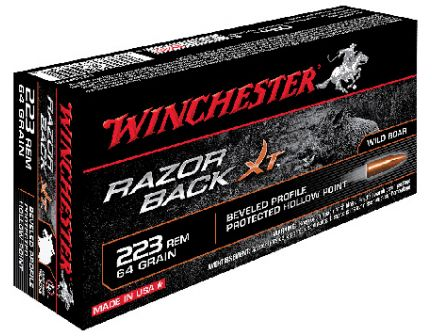 Winchester 223 64gr RazorBack Ammunition 20rds - S223WB