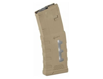 Mission First Tactical 30rd Extreme Duty Window 5.56 Magazine, Scorched Dark Earth - EXDPM556-W-SDE