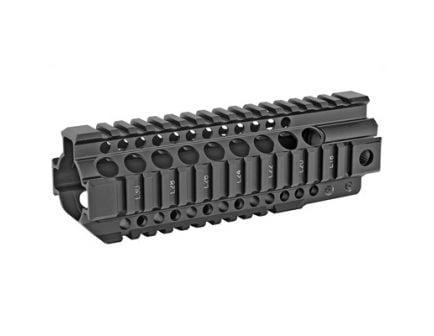 "Midwest Industries 7.25"" Quad Rail Combat T-Series Free Float Handguard, Black Anodized - MI-CRT7.25"