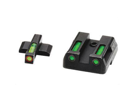 Hi-Viz LiteWave H3 H&K VP9/VP40/HK45/P30 Tritium Litepipe Green Night Sight Set With Orange Front Ring - HKN521