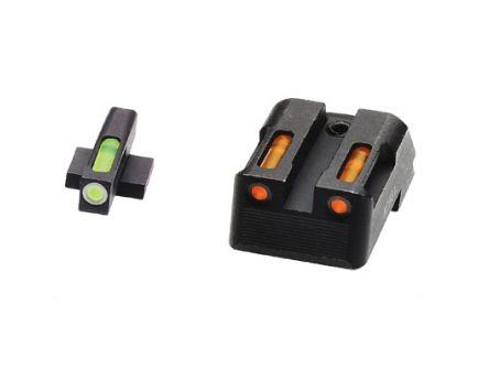 Hi-Viz LiteWave H3 Fixed Rear Sight 1911 Tritium Litepipe Night Sight Set, Green/Orange - KBN421