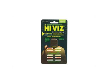 Hi-Vi Litewave Green/Red Front And Green/Red/Black Rear Handgun Replacement LitePipes - LWH-KIT