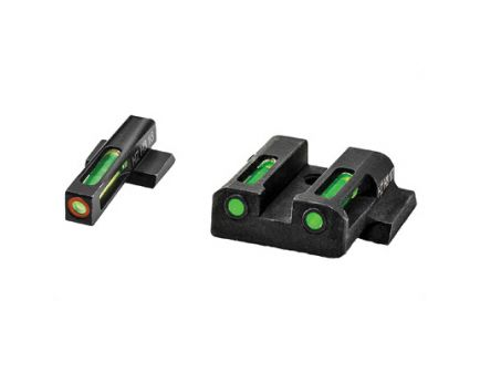 Hi-Viz LiteWave H3 Smith & Wesson M&P Tritium Litepipe Green Night Sight Set With Orange Front Ring - MPN521