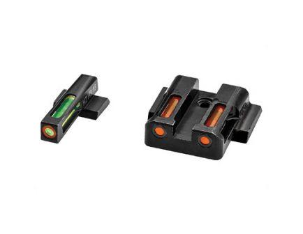 Hi-Viz LiteWave H3 Smith & Wesson M&P Shield Tritium Litepipe Night Sight Set, Green/Orange - MPSN421