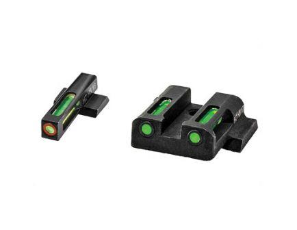 Hi-Viz LiteWave H3 Smith & Wesson M&P Shield Tritium Litepipe Green Night Sight Set With Orange Front Ring - MPSN521