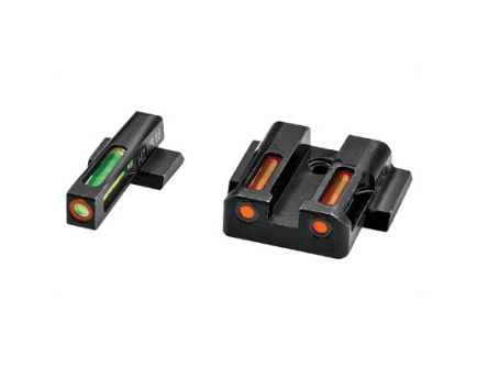 Hi-Viz LiteWave H3 Smith & Wesson M&P Shield Tritium Litepipe Night Sight Set, Green/Orange - MPSN621