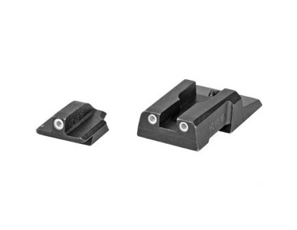Hi-Viz Ruger Security 9 White Halo Tritrium Front And Rear Night Sights, Black - RGS9N121