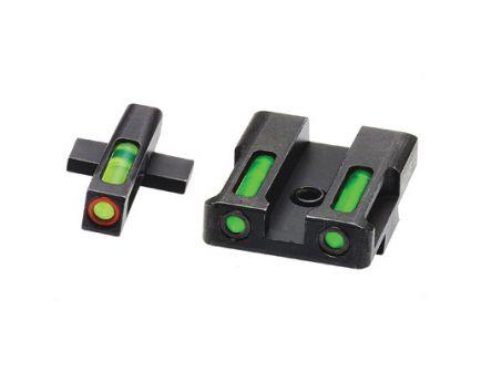 Hi-Viz LiteWave H3 Springfield XD/XDS/XDE/XDM Tritium Litepipe Green Night Sight Set With Orange Front Ring - XDN521