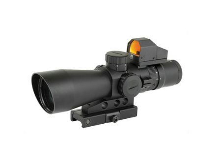 NCSTAR 3-9x42 Scope w/ 3 MOA Red Dot Fits Weaver & Picatinny Rails - STP3942GDV2
