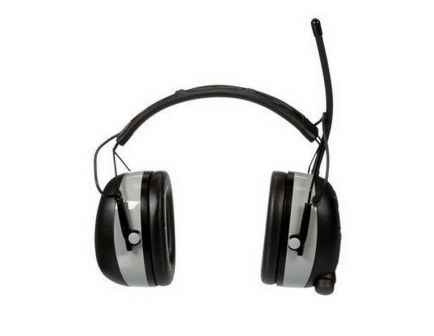 3M Worktunes 24 dB Wireless Hearing Protector with Bluetooth, Plastic, Black/Silver - 90542-3DC