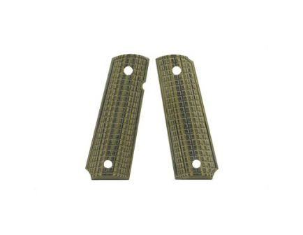 Pachmayr G10 Grip Panel Fits 1911, Green w/ Black Grappler Finish - 61010