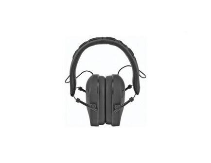 Radiants Vertex Slim Dual Mic NRR 22 Electronic Earmuffs, Black - VX0110CS
