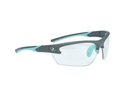 Radians Lowset Ladies Glasses With Aqua And Charcoal Frame, Clear - WS2310CS