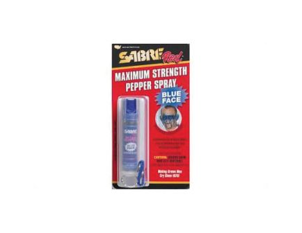 Sabre .75oz Pepper Spray Key Chain w/ Red Pepper & Blue UV Dye - HC-22-TC-USBD