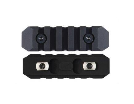 Seekins Precision Aluminum M-LOK 5 Slot Rail Section, Black - 0010560079