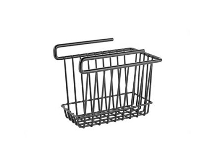 "SnapSafe 6x7x9"" Hanging Shelf Basket Holds Up to 40lbs, Black - 76010"