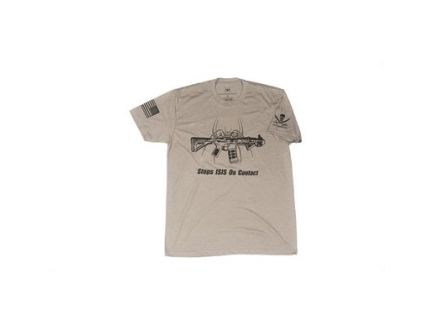 Spike's Tactical Stops ISIS Spike's Tactical Tee Shirt Medium, Gray - SGT1071-M