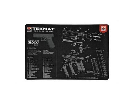 """TekMat Glock Gen 5 17""""x11"""" Pistol Mat With Small Microfiber TekTowel, Black - R17-GLOCK-G5"""
