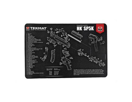 "TekMat H&K SP5K 17""x11"" Pistol Mat With Small Microfiber TekTowel, Black - R17-HK-SP5K"