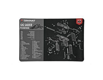 "TekMat Sig P238 17""x11"" Pistol Mat With Small Microfiber TekTowel, Black - R17-SIGP238"