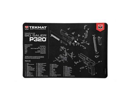 "TekMat Sig P320 17""x11"" Pistol Mat With Small Microfiber TekTowel, Black - R17-SIGP320"