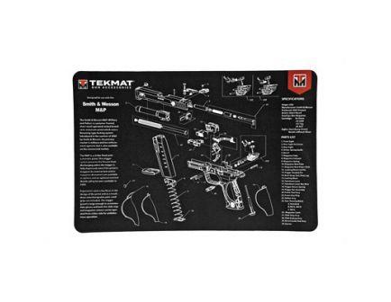 "TekMat Smith & Wesson M&P 17""x11"" Pistol Mat With Small Microfiber TekTowel, Black - R17-SW-MP"