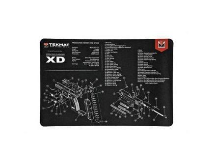 """TekMat Springfield XD 17""""x11"""" Pistol Mat With Small Microfiber TekTowel, Black - R17-XD"""