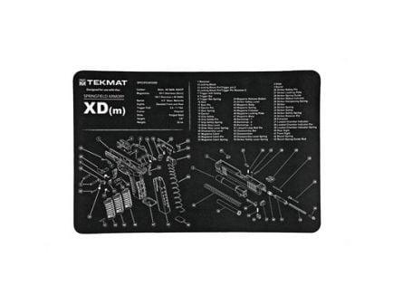 """TekMat Springfield XDM 17""""x11"""" Pistol Mat With Small Microfiber TekTowel, Black - R17-XDM"""