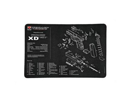 """TekMat Springfield XD Mod 2 17""""x11"""" Pistol Mat With Small Microfiber TekTowel, Black - R17-XDMOD2"""