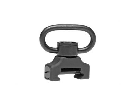 TROY QD Sling Mount with Swivel w/ 360 Degree Push Button Fits Battlerail, Black - SMOU-PBS-00BT-00